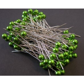 Parelspelden / parelstekers Ø 6 mm groen 100 stuks [1405]