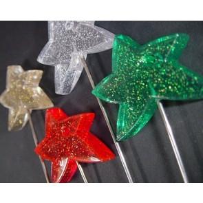 Prikker met ster + glitters. Set van 4 kleuren