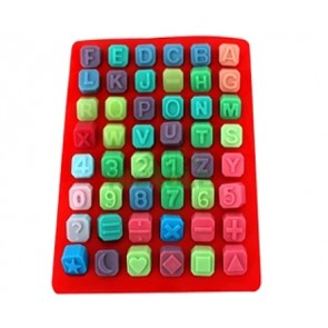 QP0001S silicone mold: alphabet + numbers