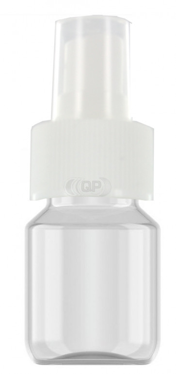 30 ml spray flesje transparant met vinger verstuiver / spraykop (28mm Veral model)