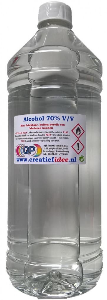 Chirurgische alcohol (70% 1% IPA, 1% MEK en Bitrex) navulverpakking 1 liter