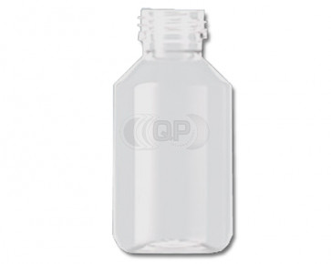 Flesje 100ml transparant pet / kunststof ropp 28