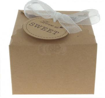 Cadeauverpakking Love is Sweet 5 stuks (6,5*6,5*4,5 cm)
