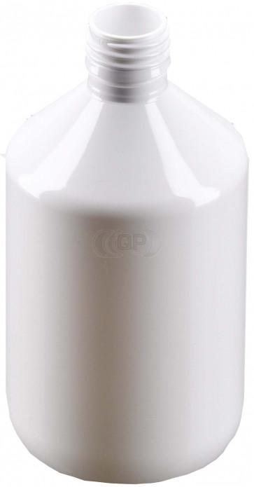 Flesje 500ml wit pet / kunststof 28mm 28-410 ROPP sluiting