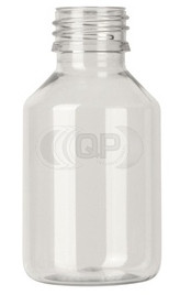 Flesje 100ml transparant pet / kunststof 28mm 28-410 ROPP sluiting