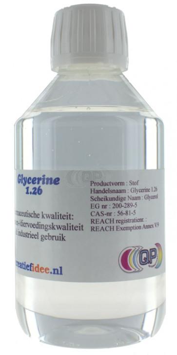 Vloeibare glycerine 1.26: Food grade 630 gram (500 ml)