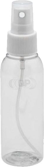100 ml spray flesje transparant met verstuiver / spraykop (verstuiven van o.a. alcohol)