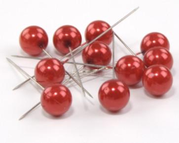 Parelspelden / parelstekers Ø 20 mm rood 50 stuks [1462]