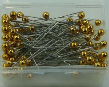 Parelspelden / parelstekers Ø 6 mm goud 100 stuks [1404]