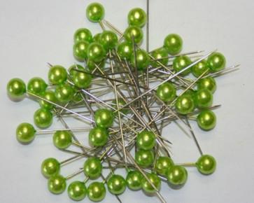 Parelspelden / parelstekers Ø 9 mm groen 50 stuks [1424]