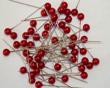 Parelspelden / parelstekers Ø 9 mm rood 50 stuks [1422]