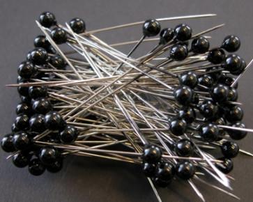 Parelspelden / parelstekers Ø 6 mm zwart 100 stuks [1402]