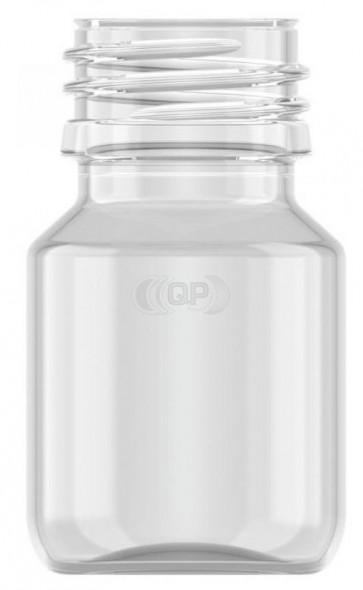 Flesje 30ml transparant pet / kunststof 28mm 28-410 ROPP sluiting