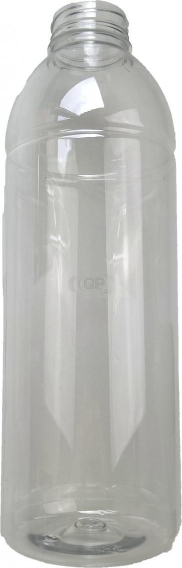 Fles 500ml transparant pet / kunststof 38mm ROPP sluiting