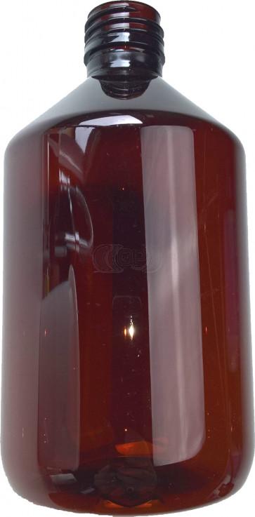 Flesje 500ml bruin pet / kunststof ropp 28
