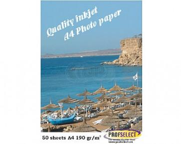 Inktjet fotopapier A4 190g/m² glans Profselect 50 vel waterbestendig