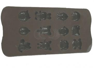 QP0058S siliconen mal: diverse figuren koe, kip, haas, poes