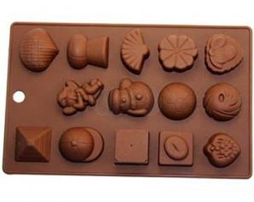 QP0061S siliconen mal: bonbons 2