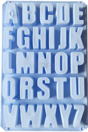QP0075S siliconen mal: alfabet zeer grote hoofdletters