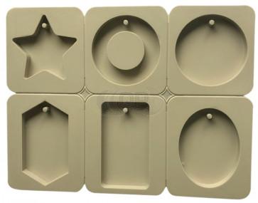 QP0092S siliconen mal: Hangers / Kaartjes