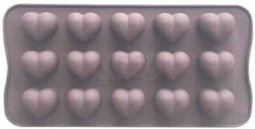 QP0148S siliconen mal: Hartjes