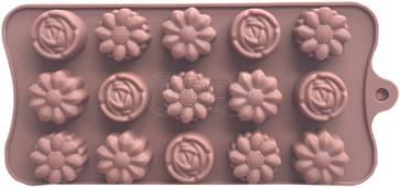 QP0152S siliconen mal: Bloemen