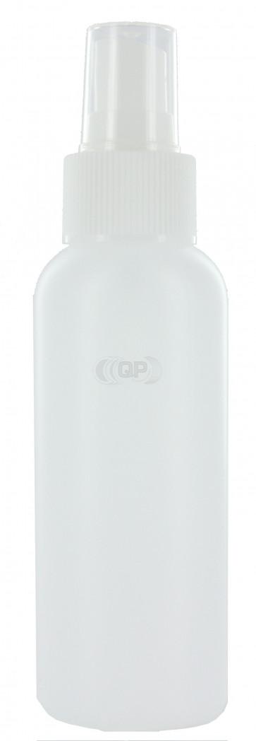 100 ml spray flesje semi transparant met vinger verstuiver / spraykop (Boston model)