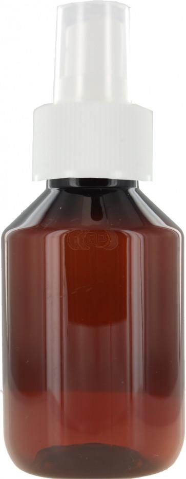 100 ml bruine spray fles met vinger verstuiver / spraydop (28mm Veral model)