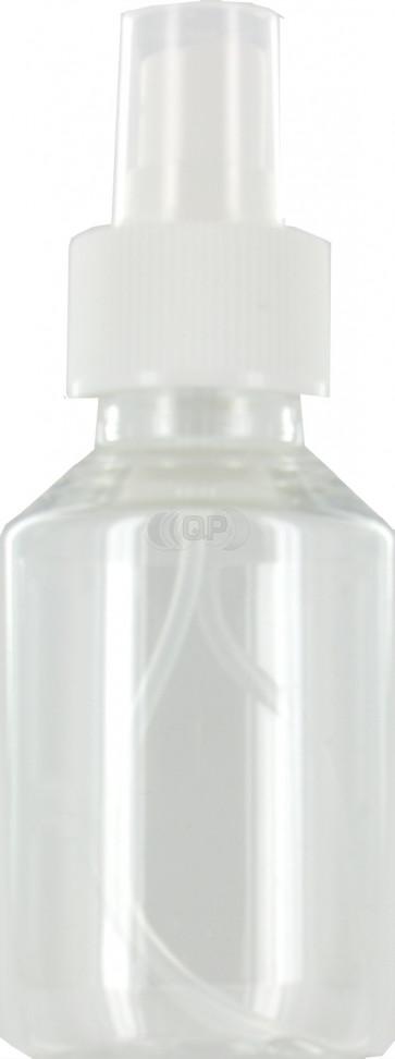 100 ml spray flesje transparant met vinger verstuiver / spraydop (28mm Veral model)