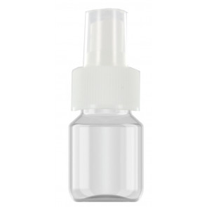 30 ml spray flesje transparant met vinger verstuiver / spraykop (28mm Veral model)
