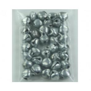 Hanger belletjes zilver ± 35 stuks 6mm