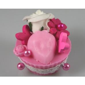 Parelspelden / parelstekers Ø 9 mm fuchsia roze 50 stuks [1423]