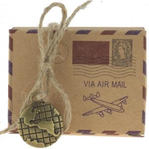Cadeauverpakking airmail 5 stuks (6*3,5*4,5 cm)