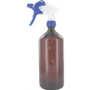 1000 ml spray fles bruin met trigger verstuiver / spraykop