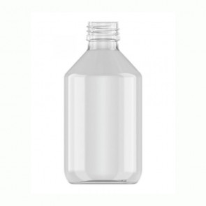 Flesje 250ml transparant pet / kunststof 28mm 28-410 ROPP sluiting
