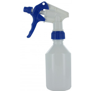250 ml spray fles wit met trigger verstuiver / spraykop
