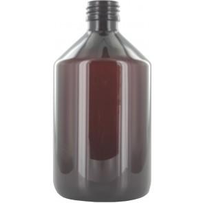 Flesje 500ml bruin pet / kunststof 28mm sluiting