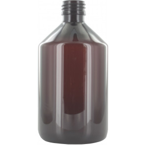 Fles 500ml bruin pet / kunststof 28mm 28-410 ROPP sluiting