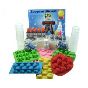 Glycerinezeep kinderfeestje decoratie zeepketting maken pakket tot 12 kinderen