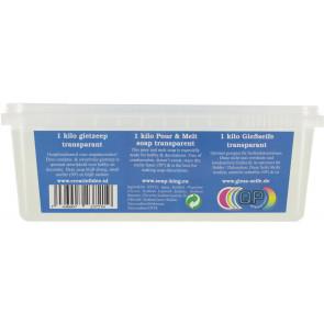 Gietzeep condens & zweetvrij Glycerine basis 1 kilo transparant