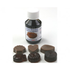 Basis kleurstof: bruin 100ml (zeep & cosmetica geschikt)