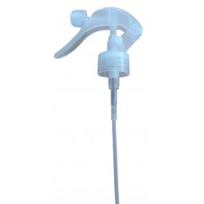 Trigger verstuiver kop / dop transparant 28mm met 20cm slang (28/410)