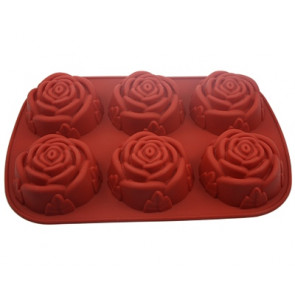 QP0005S siliconen mal: 6 rozen groot