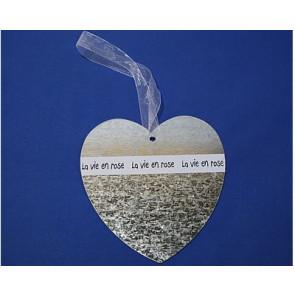 Metalen hanger hart 19 cm