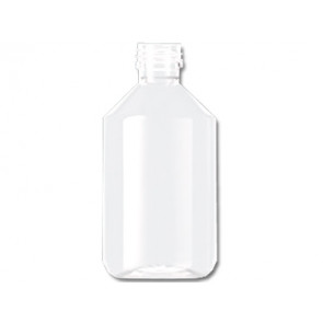 Flesje 250ml transparant pet / kunststof ropp 28