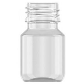 Flesje 30ml transparant pet / kunststof 28mm sluiting