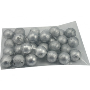 Metaalkleurige bal van plastic 20mm ML601 30 stuks