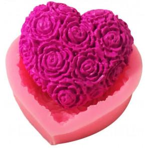 Qp0039NS siliconen mal: Hart met bloemen