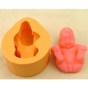 QP0079S 3D siliconen mal: baby jongetje