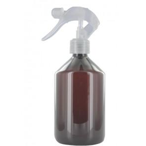 500 ml spray fles bruin met transparante trigger verstuiver (28mm)